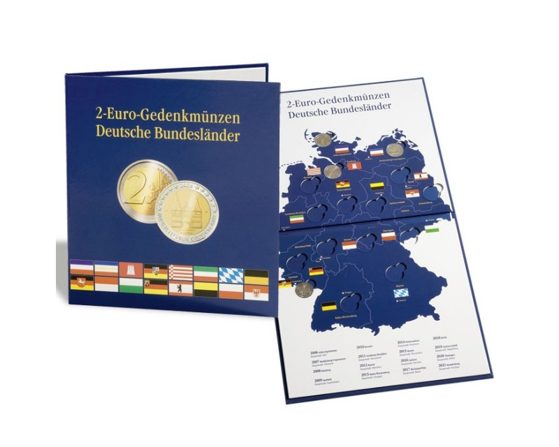 """Leuchtturm PRESSO """"Deutsche Bundesländer""""  Euro-Collection für 2-Euro-Münzen für dieSerie"""