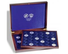 Leuchtturm VOLTERRA DUO de Luxe, für 43 5-DM Münzen in Kapseln, Deckel- und Kissendruck Münzkassette