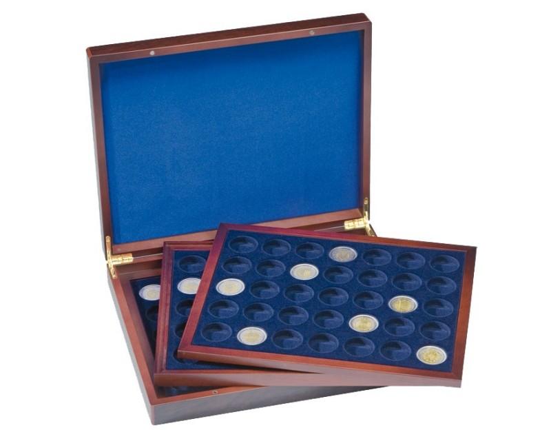 Leuchtturm VOLTERRA TRIO deLuxe, für je 35 Münzen in Kapseln bis 26 mm Ø Münzkassette