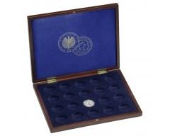 Leuchtturm VOLTERRA UNO de Luxe, für 20 deutsche 10-Euro Fußball-Gedenkmünzen in Kapseln Münzkassette