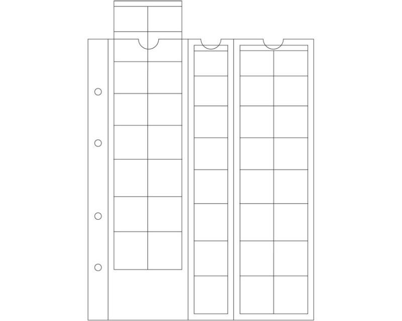 Leuchtturm für EURO-Sätze bis 26 mm Ø, glasklar Münzhüllen OPTIMA