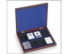 Leuchtturm VOLTERRA UNO de Luxe, für 8 zertifizierte Münzkapseln (Slabs) Münzkassette