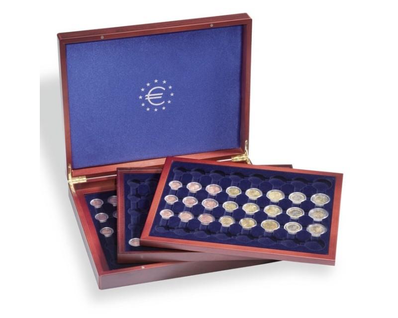 Leuchtturm VOLTERRA TRIO de Luxe, für je 6 Euro-Kursmünzensätze in Kapseln Münzkassette