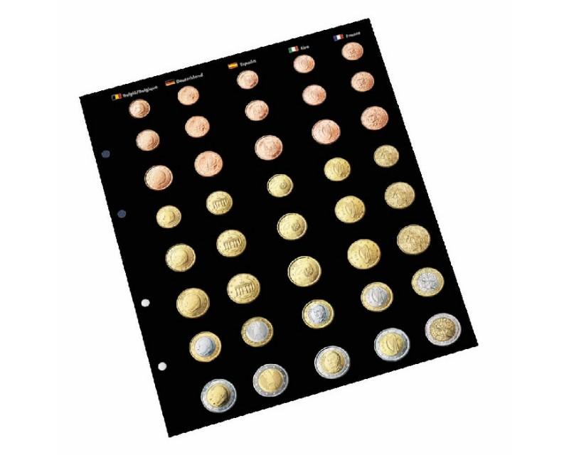 Leuchtturm Vordruckblätter für OPTIMA Euro-Münzenalbum