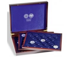 Leuchtturm VOLTERRA TRIO de Luxe, für 61 10-DM-Gedenkmünzen in Kapseln mit Deckeldruck Münzkassette