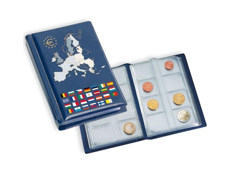 Leuchtturm Münzen-Taschenalbum mit 12 Münzblättern für 12 komplette Euro-Kursmünzensätze