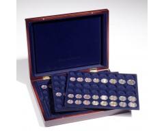 Leuchtturm VOLTERRA TRIO, für je 6 komplette EURO-Kursmünzensätze in Kapseln Münzkassette
