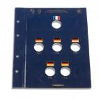 """Leuchtturm 6 x 2-Euro-Gedenkmünzen """"50. Jahrestag Élysee Vertrag"""" VISTA-Münzblatt"""
